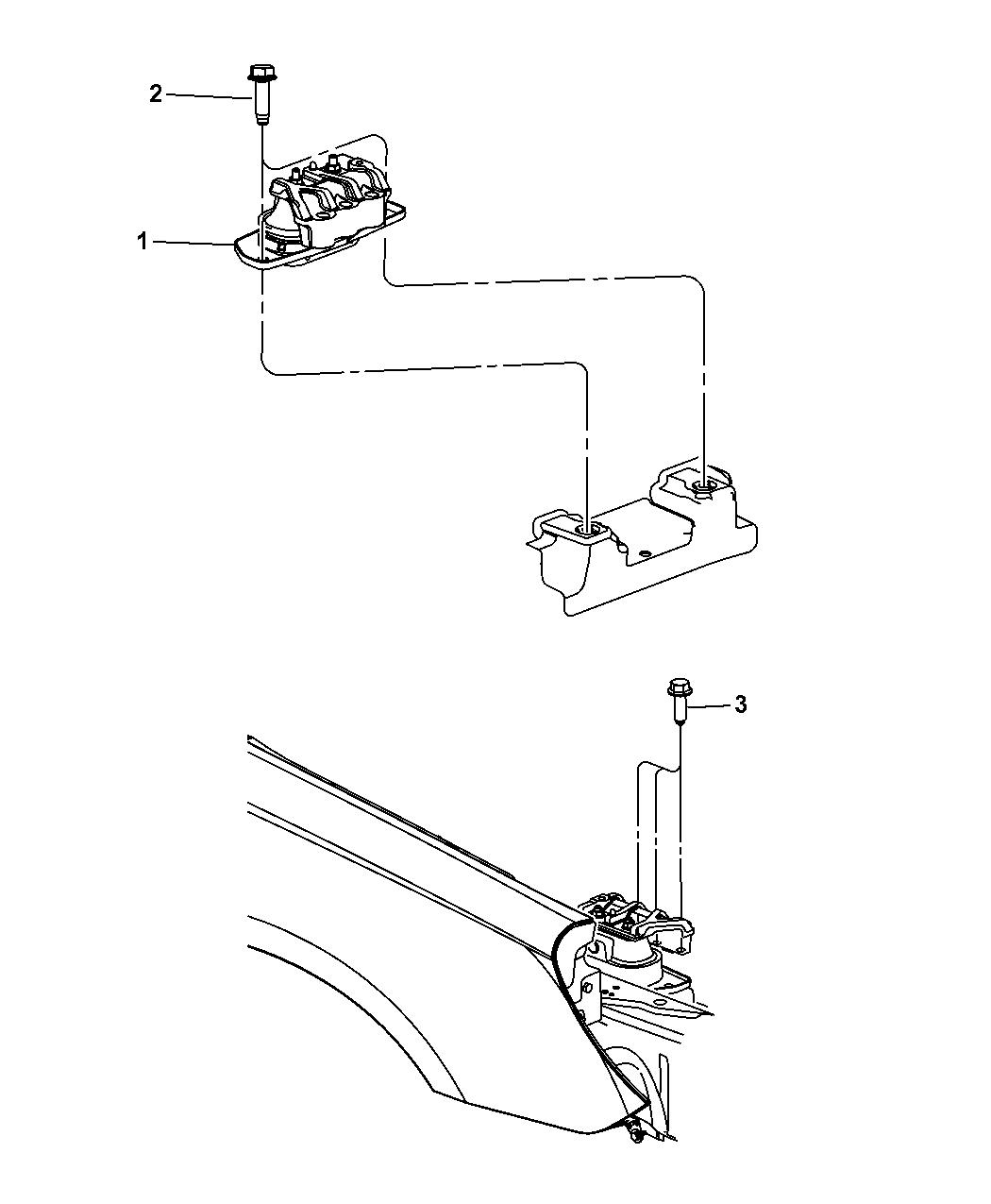2009 Dodge Avenger Engine Mounting Mopar Parts Giant Diagram Thumbnail 12