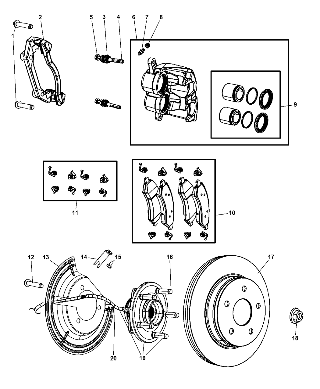 2009 dodge ram 1500 front brakes