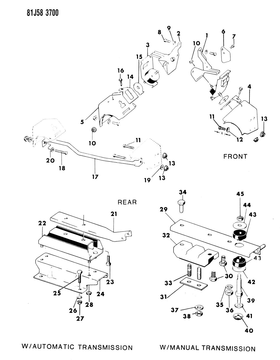 1984 Jeep Wrangler Engine Mounting Mopar Parts Giant 4 0l Bellhousing Diagram Thumbnail 2