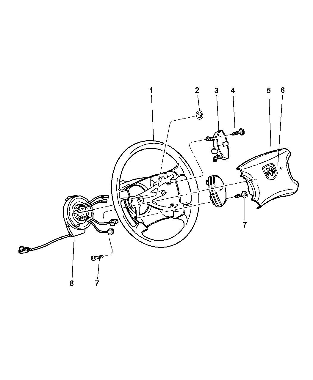 Genuine Dodge PAD-AIR BAG MODULE
