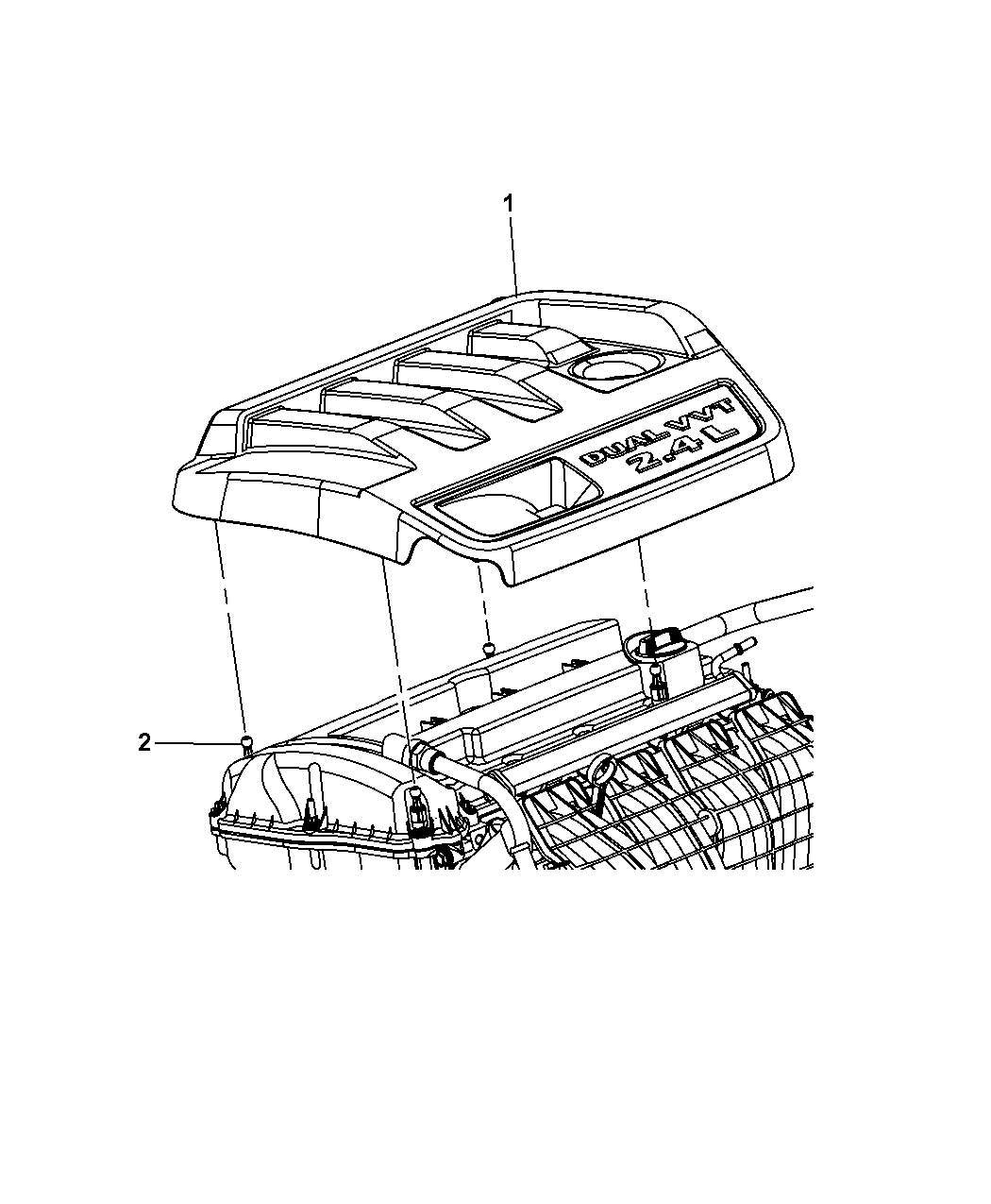2009 Jeep Patriot Engine Cover Related Parts Diagram Thumbnail 4