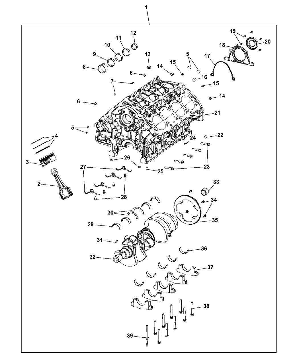 Genuine Mopar ENGINE-SHORT BLOCK