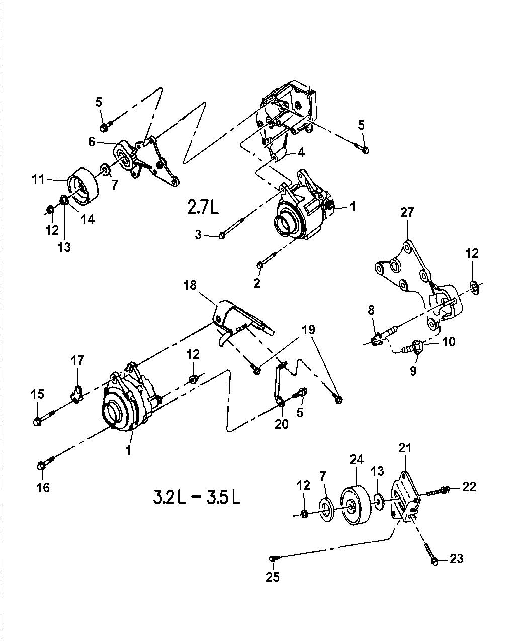 4792112 Genuine Mopar Pulley Idler 3 5l 1997 Engine Diagram 1998 Dodge Intrepid Alternator