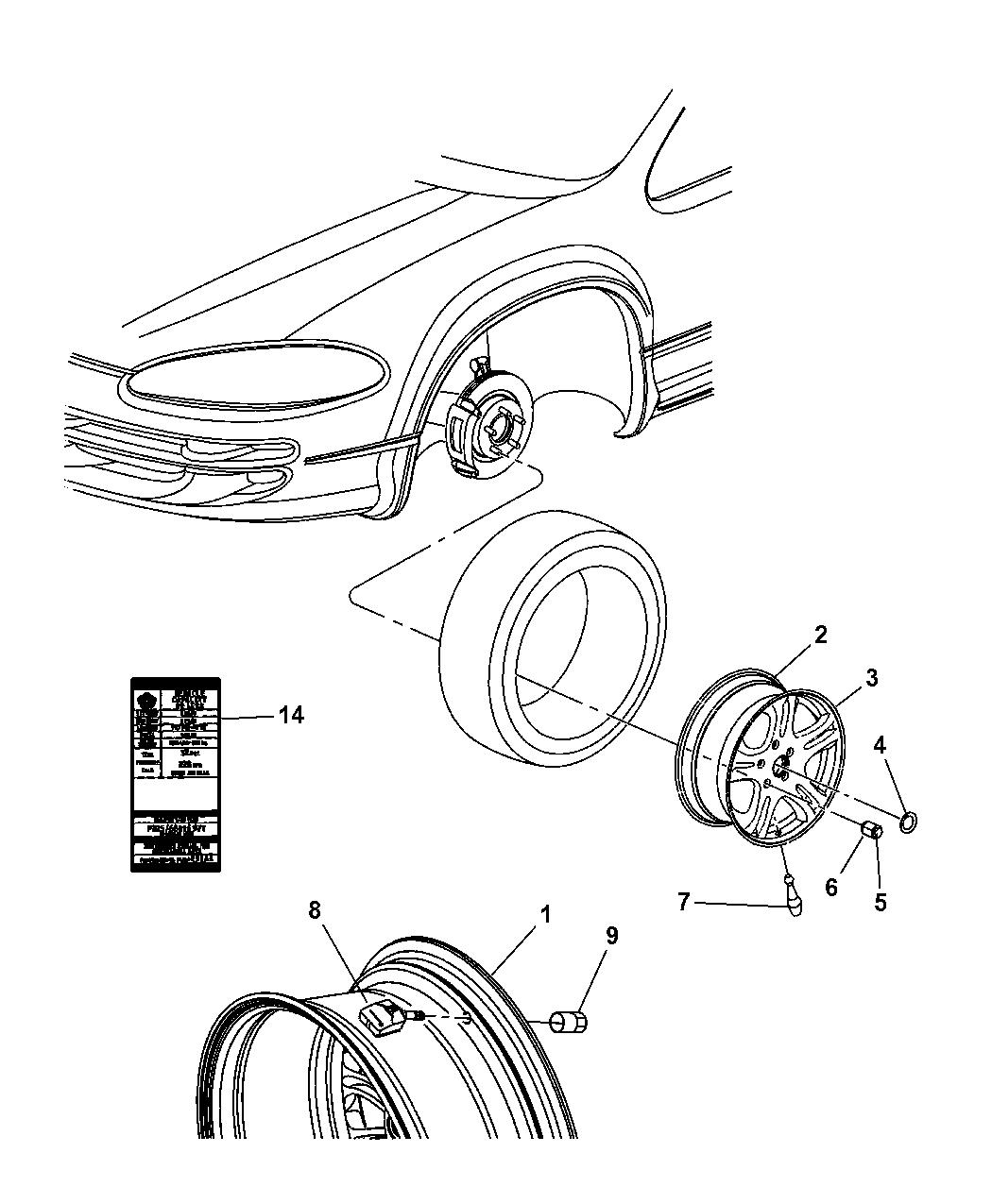 2004 Chrysler 300m Wheels  U0026 Hardware