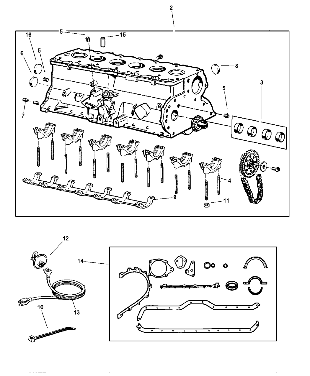 pontiac 2 4 engine diagram cam senser 4636985ab - genuine jeep bearing-camshaft jeep engine diagram cam #1