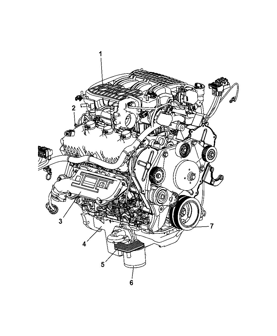2007 dodge nitro engine assembly identification rh moparpartsgiant com Nitro Engine Breakdown Nitro Drag Racing Engines