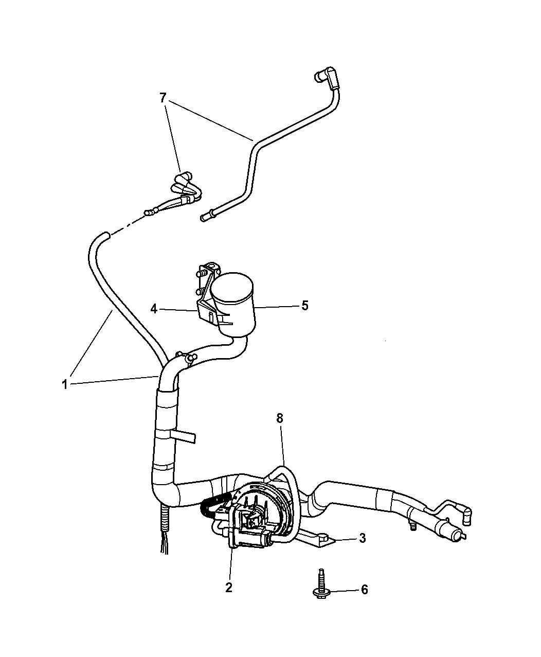 2002 Chrysler Town & Country Leak Detection Pump