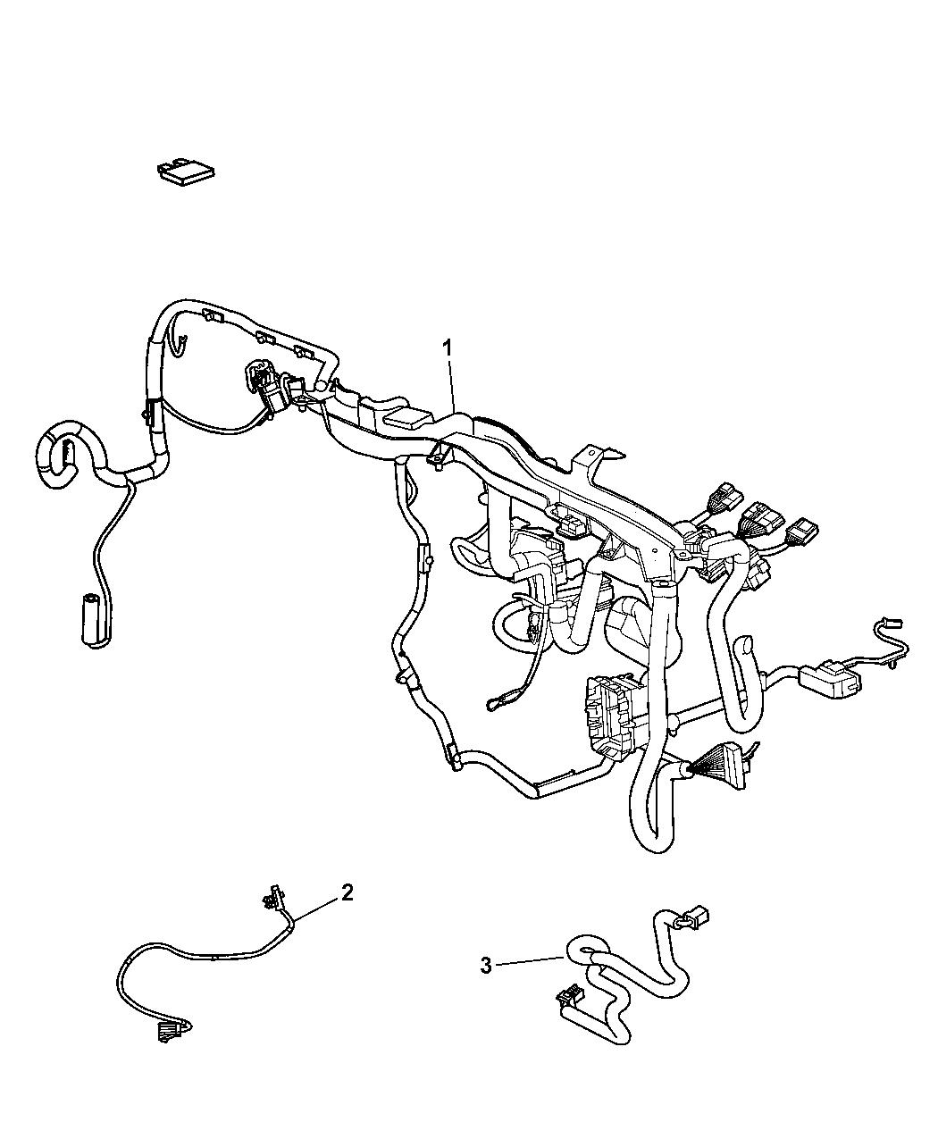2008 Dodge Caliber Wiring Instrument Panel