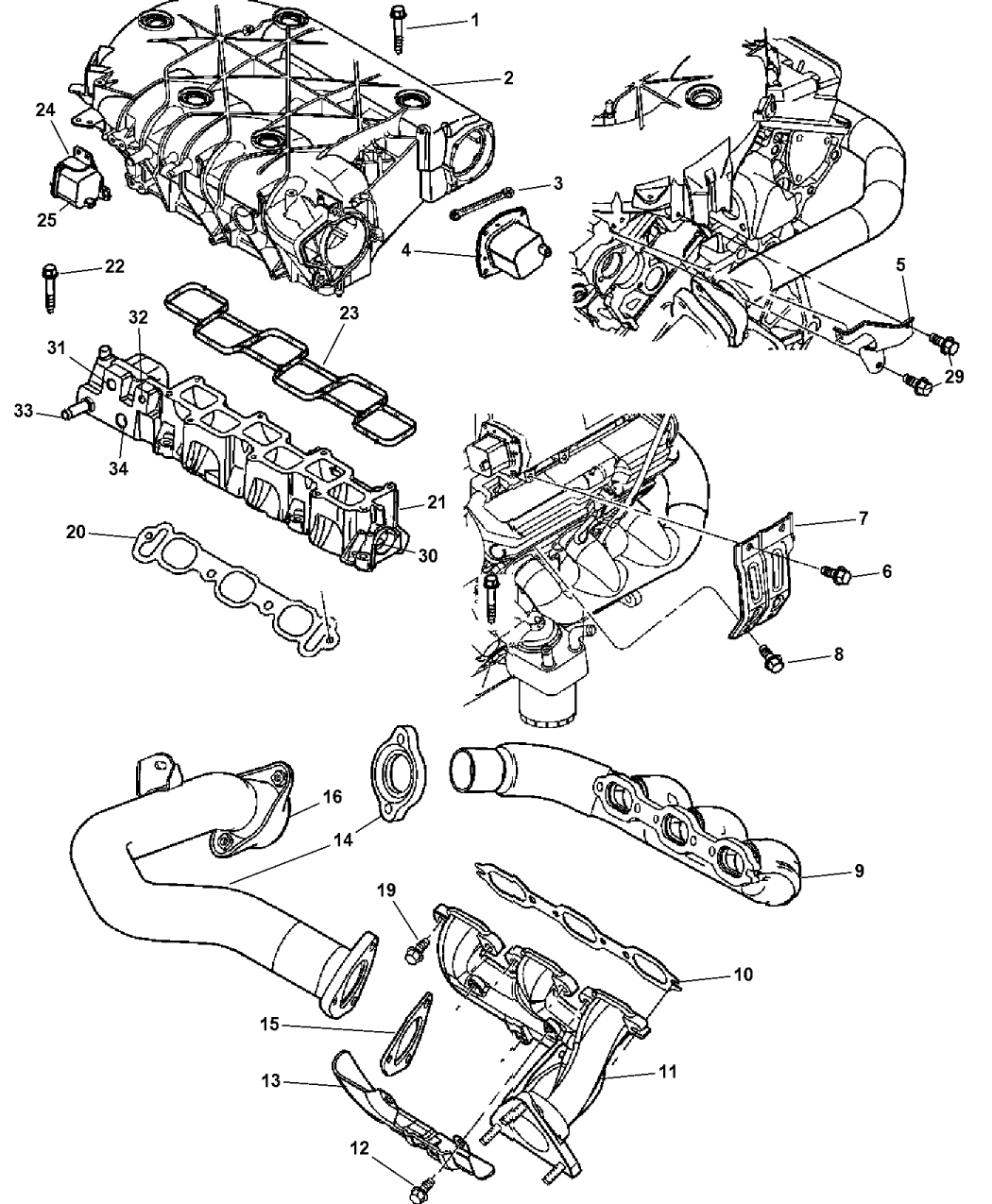 2004 Chrysler Pacifica Manifold Intake Exhaust Engine Diagram