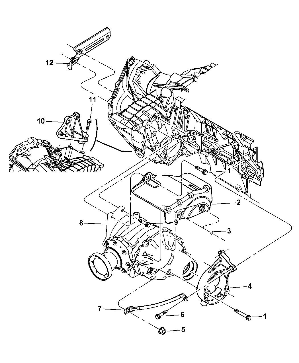 2005 Chrysler Pacifica Power Transfer Unit  U0026 Mounting