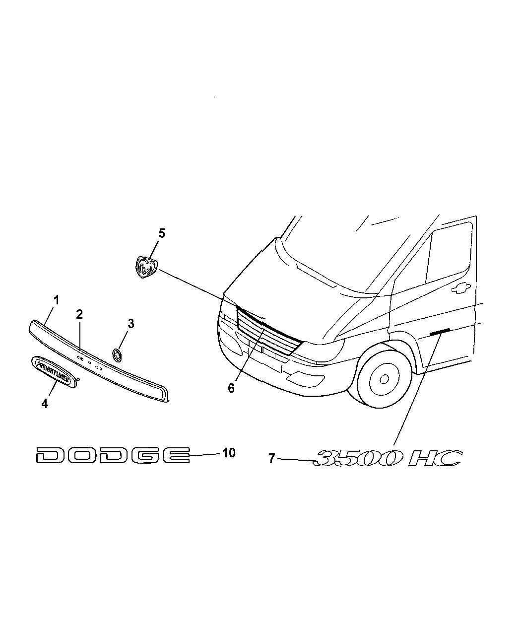2006 Dodge Sprinter 3500 Nameplates & Decals