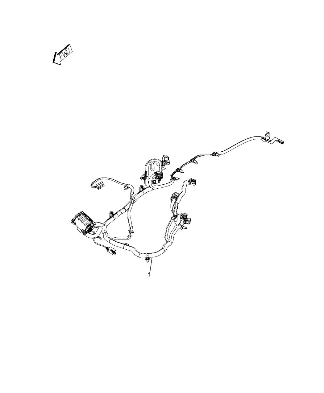 68207965AE - Genuine Mopar WIRING-JUMPER