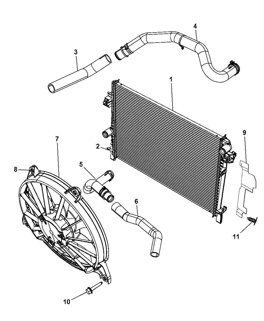 2009 dodge journey radiator