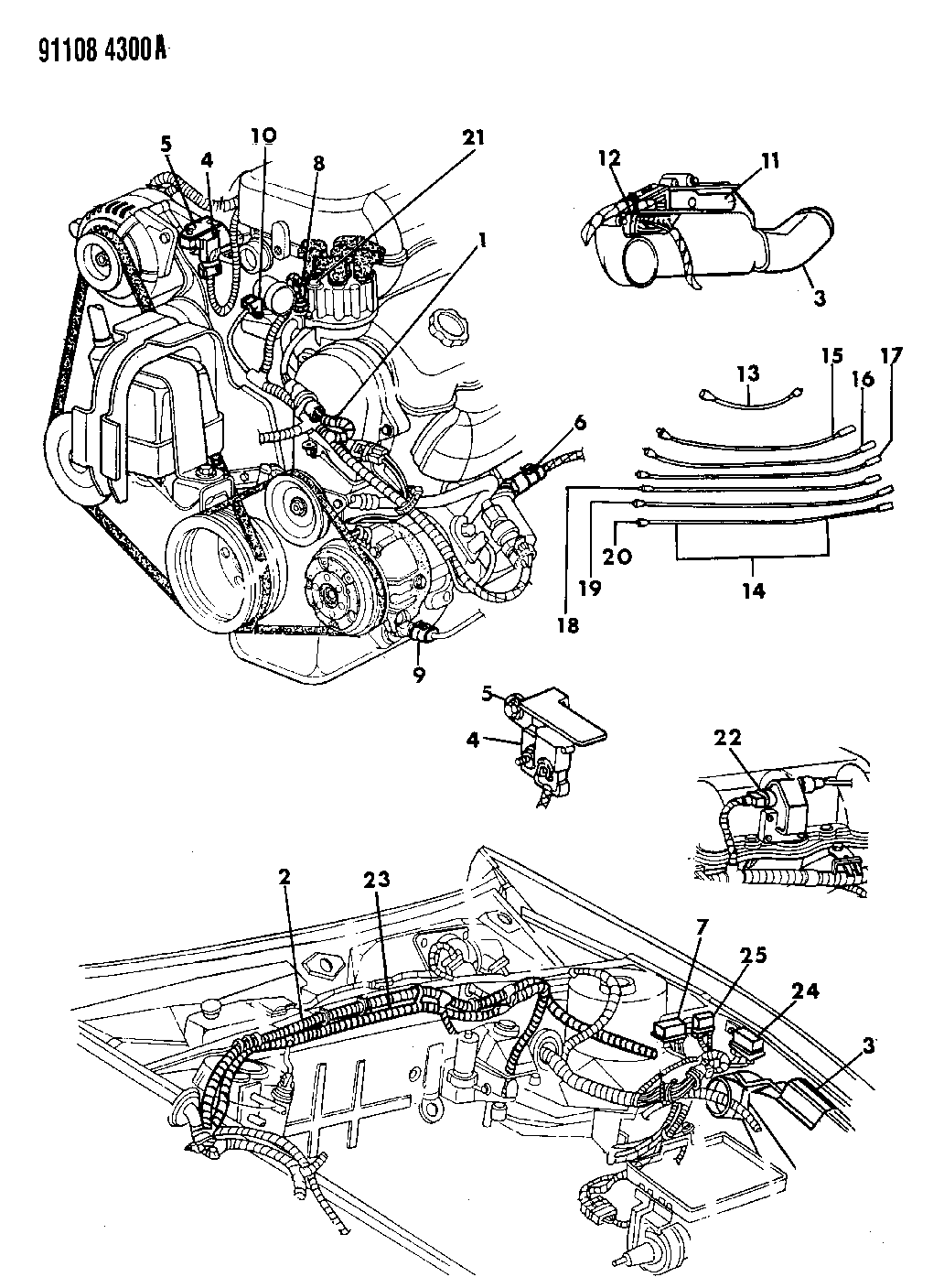 1991 Chrysler Tc Maserati Wiring Engine Front End Related Parts Tail Light Diagram