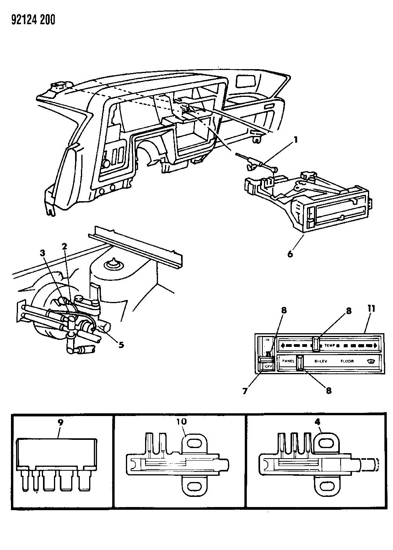 1992 Dodge Dynasty Controls Heater Mopar Parts Giant