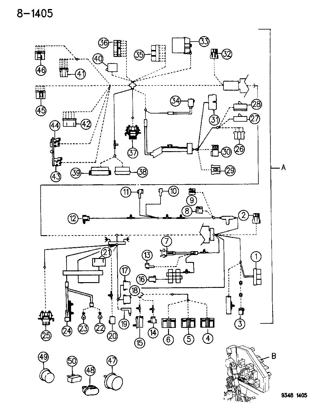 1995 Chrysler Lhs Wiring - Instrument Panel