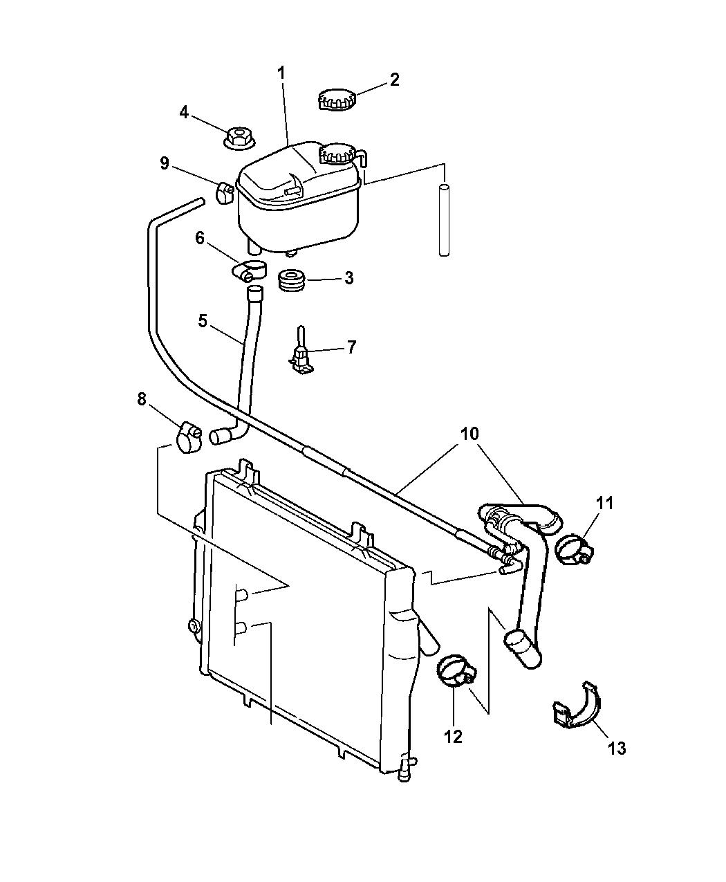 CHRYSLER OEM Crossfire-Radiator Coolant Overflow Tank Recovery Bottle 5101601AA