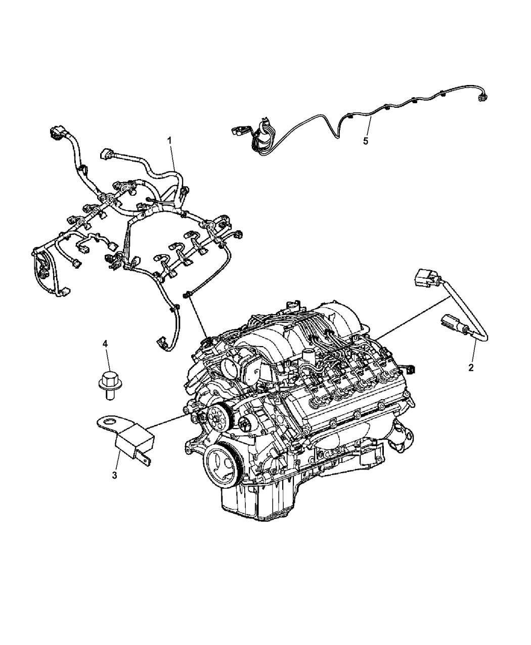 68273349ab Genuine Mopar Wiring Engine