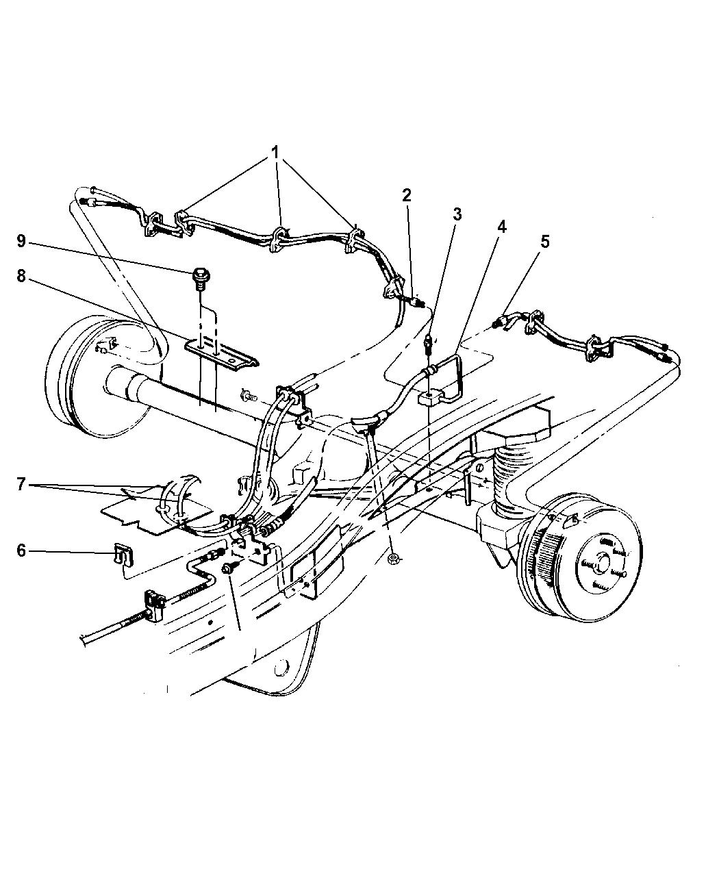 52130025 genuine mopar line brake 1990 Jeep Cherokee Rear Brake Diagram 2001 jeep cherokee brake lines \u0026 hoses, rear
