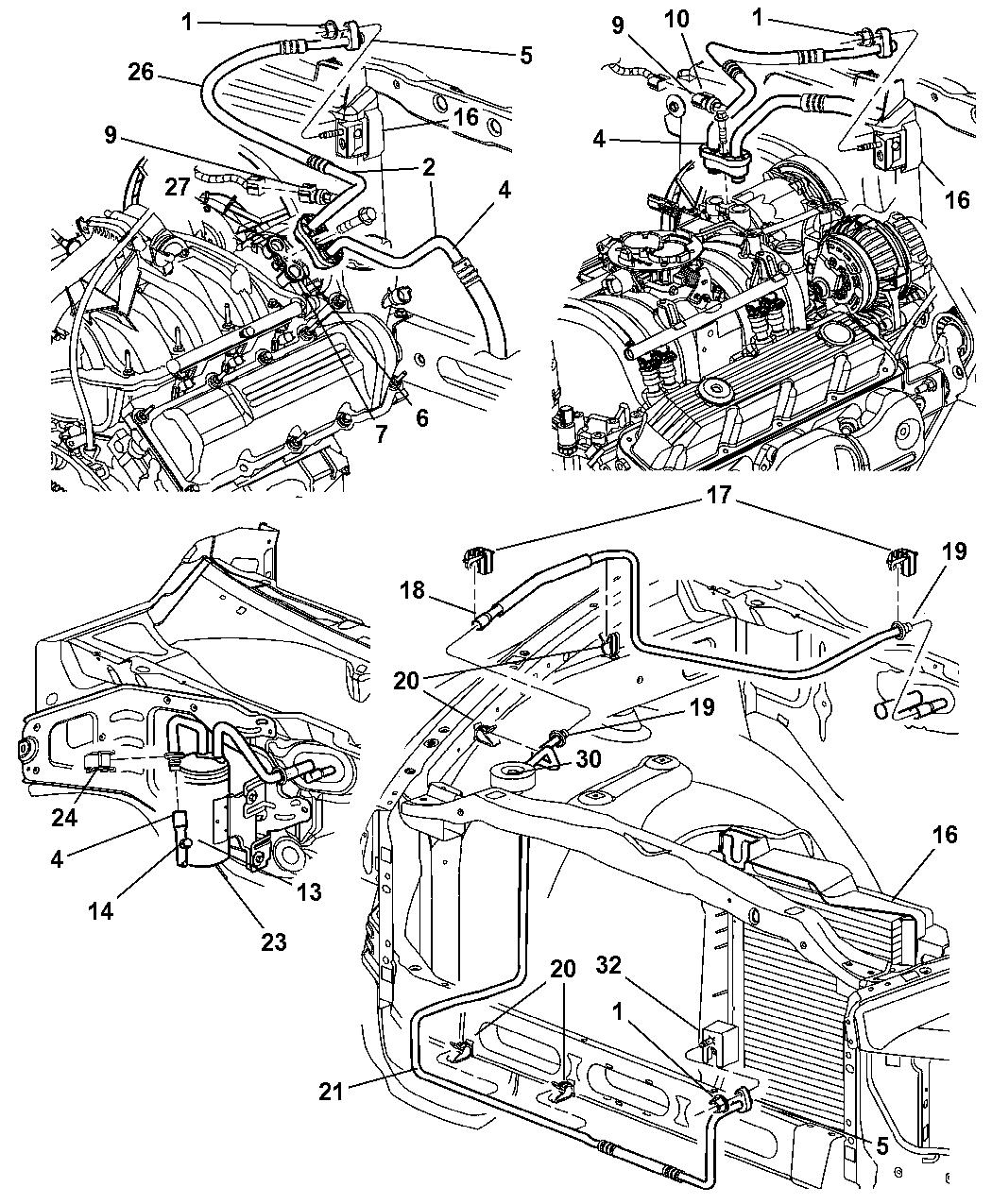 2004 Dodge Ram 3500 Plumbing - A/C - Mopar Parts Giant