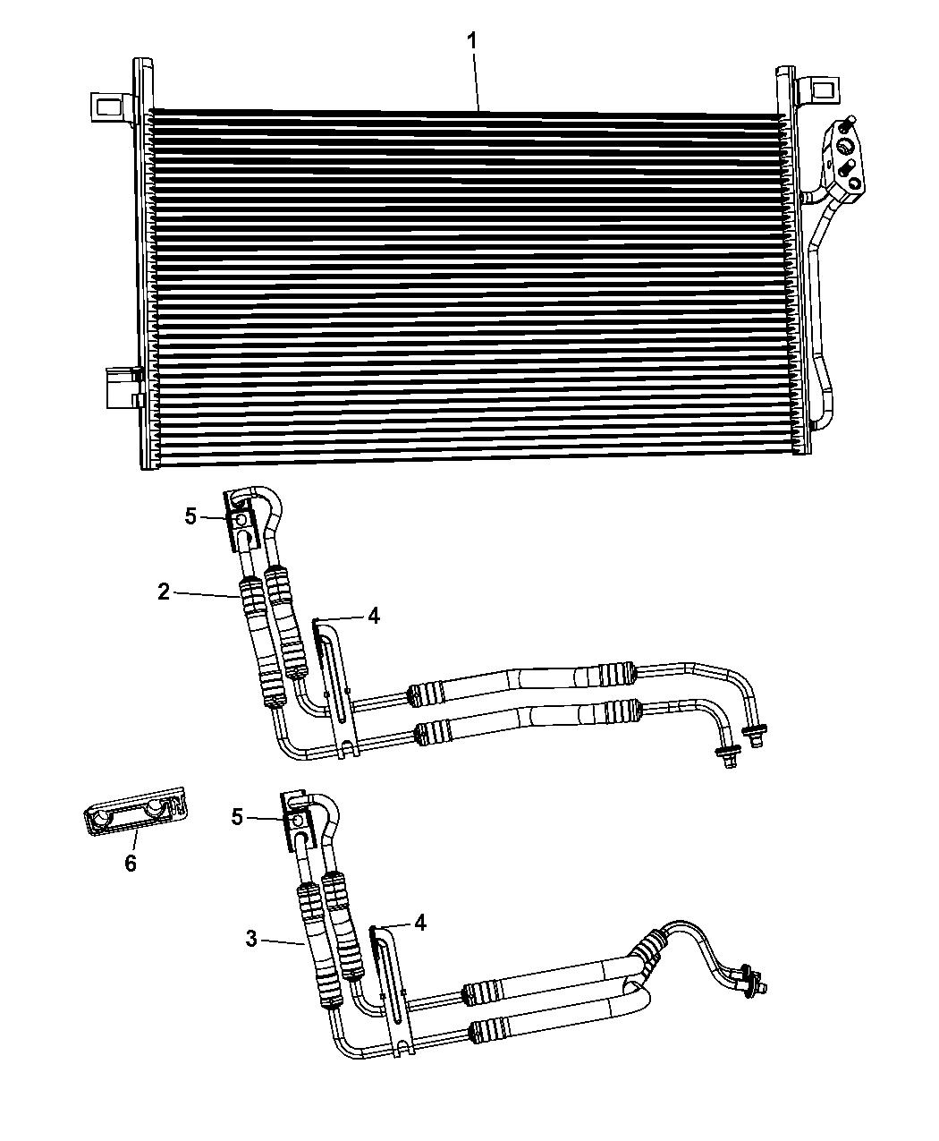 5058405AC - Genuine Mopar HOSE-OIL COOLER PRESSURE AND RET