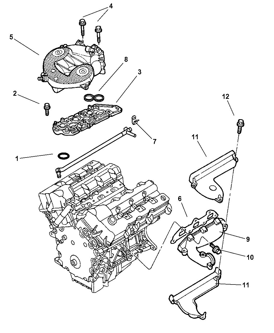 2001 Dodge Intrepid Manifold Intake Exhaust Wiring Harness Thumbnail 1