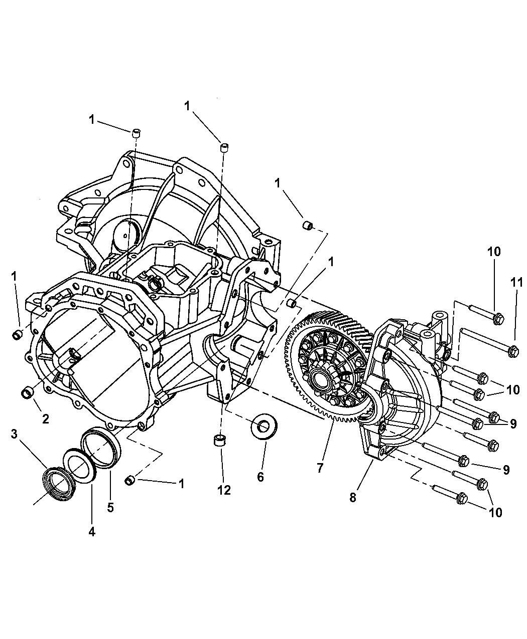 2004 chrysler sebring sedan convertible case transaxle differential publicscrutiny Images