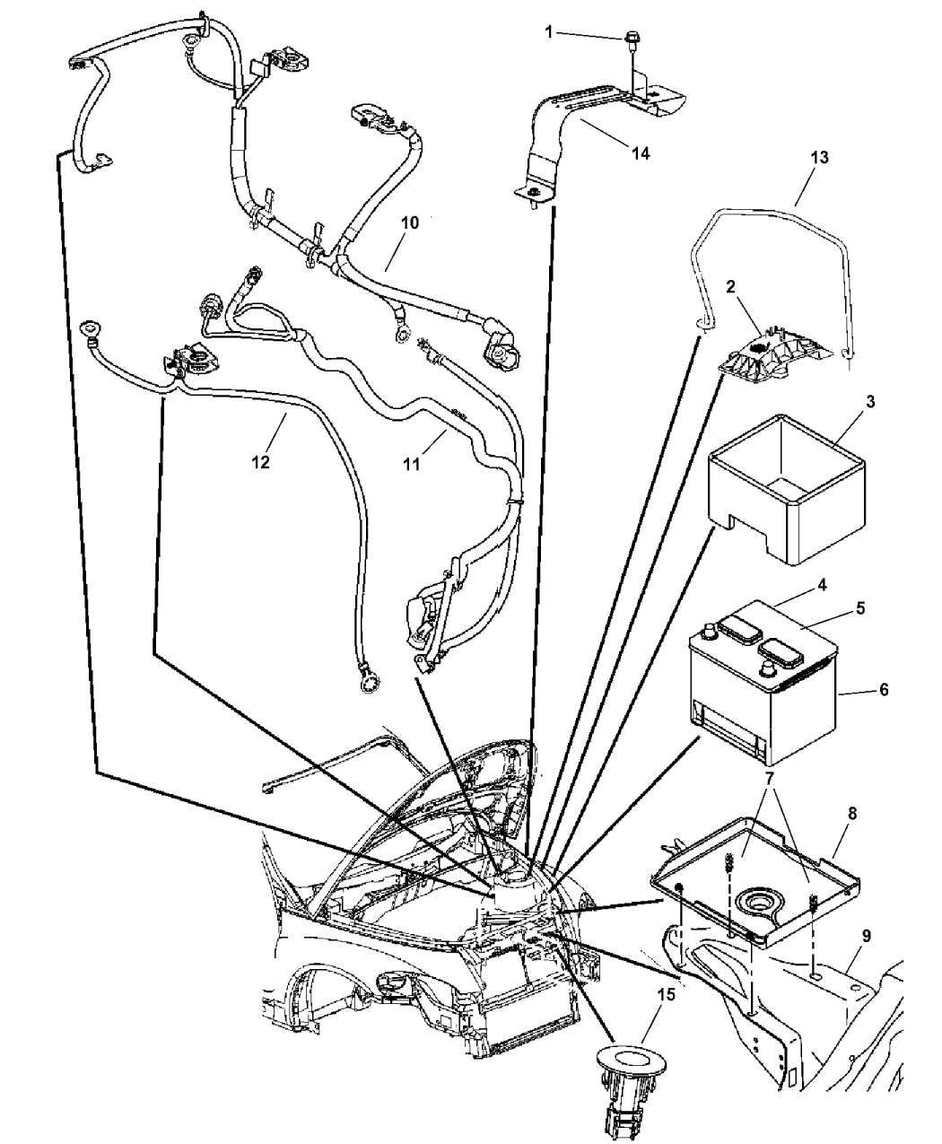 2005 Chrysler Pt Cruiser Battery Tray