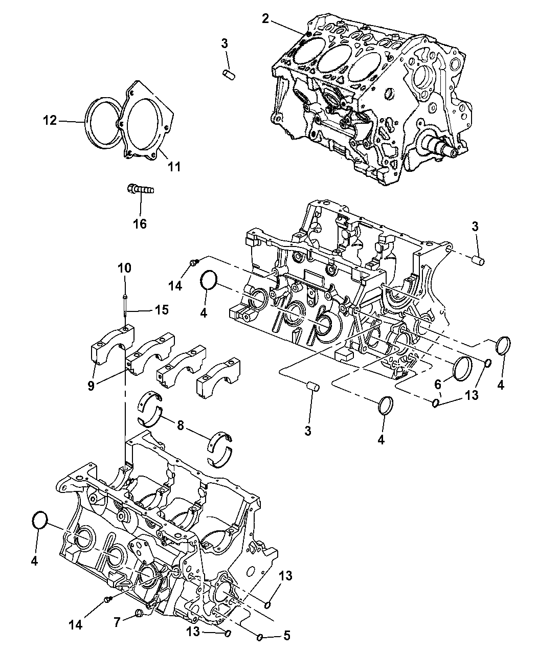 Genuine Mopar ENGINE-LONG BLOCK