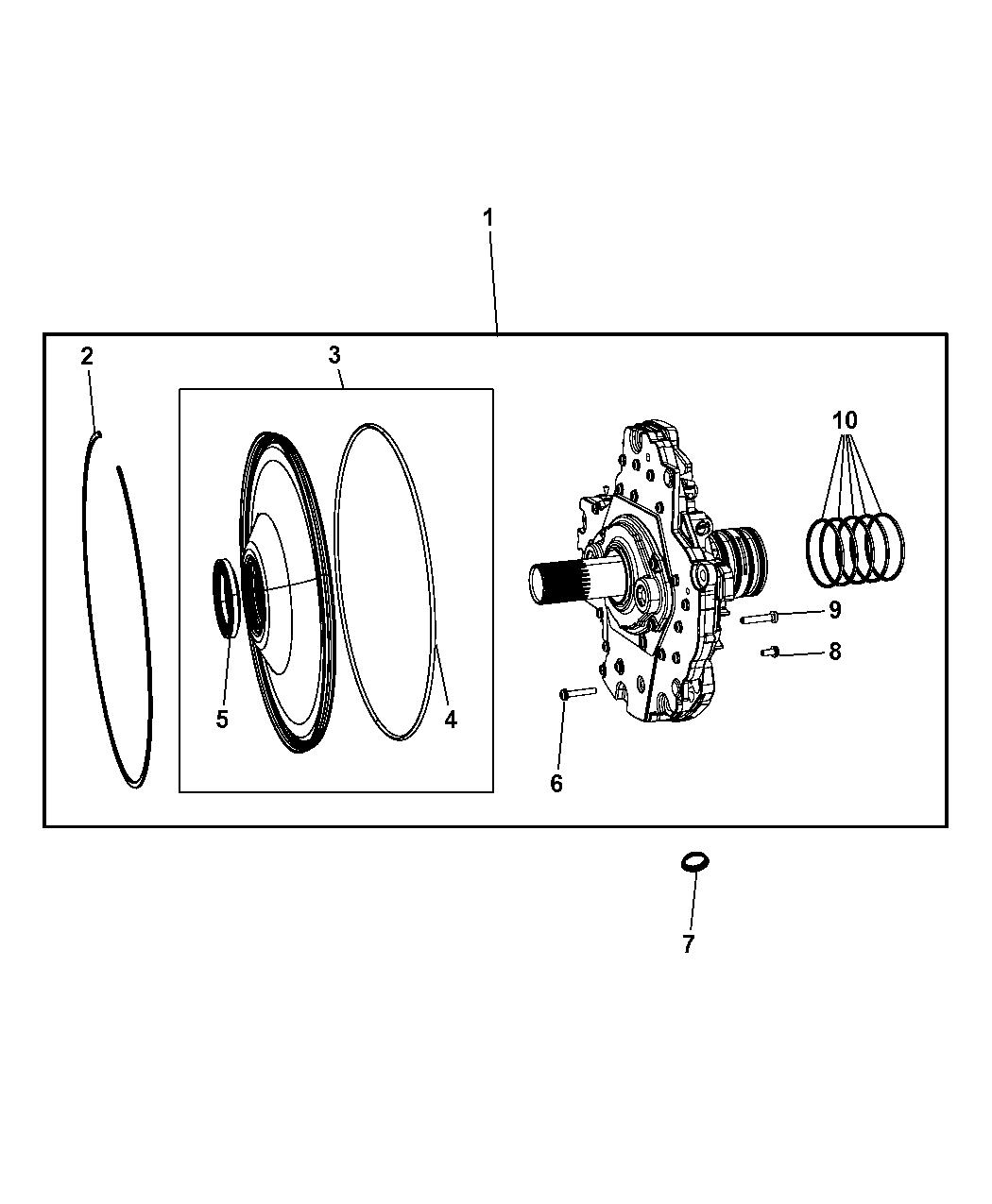 ford aod aode difference aod pump diagram: genuine mopar pump kit- transmission