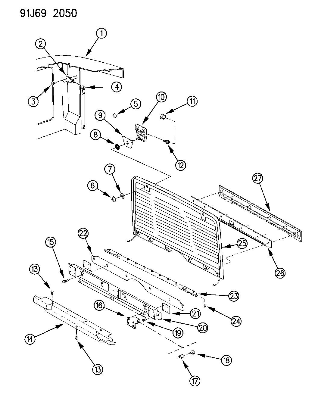1993 Jeep Wrangler Lift Door Glass & Related Parts