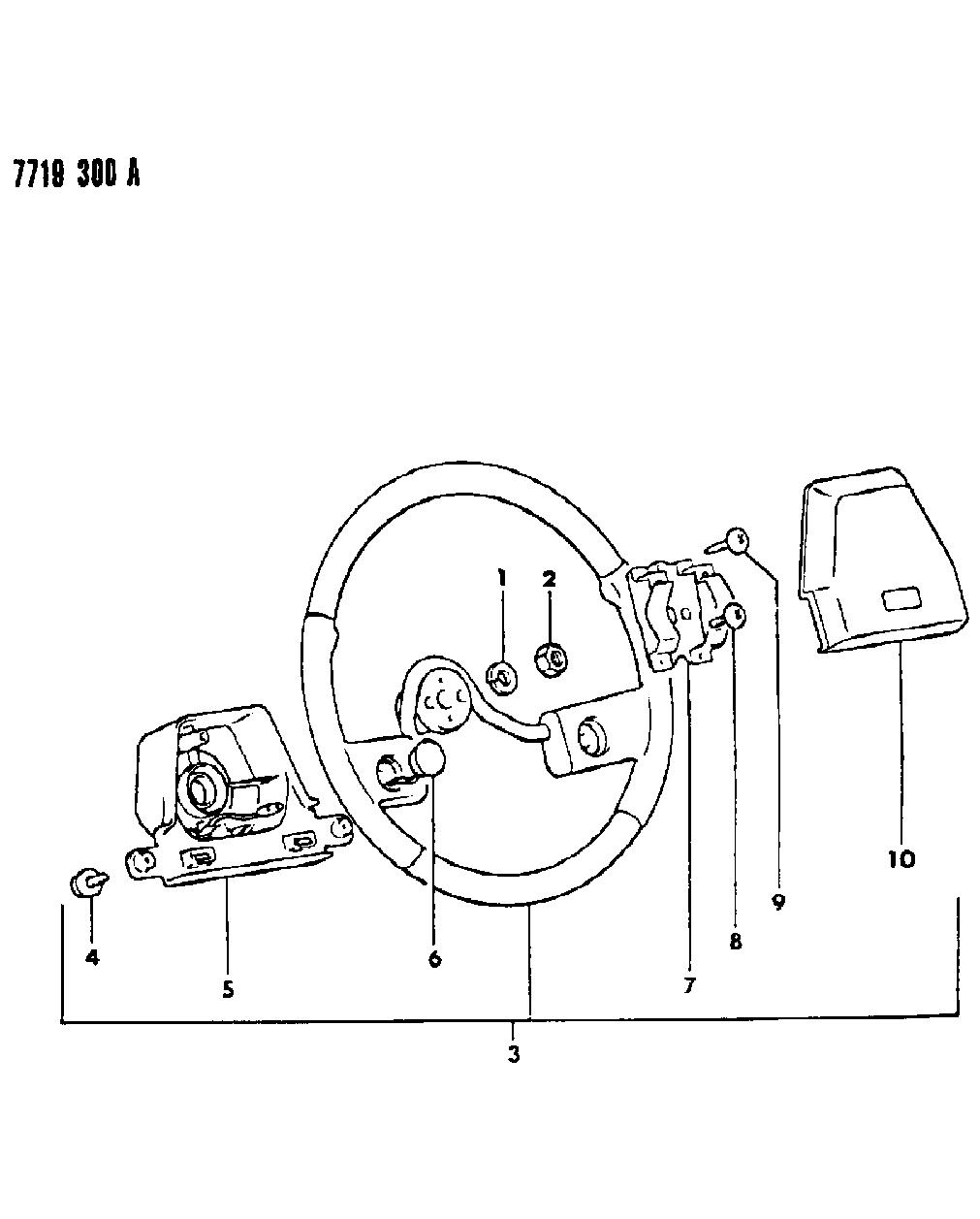 1988 Dodge Raider Steering Wheel - Mopar Parts Giant