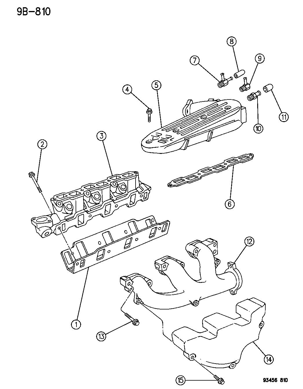 1995 Dodge Intrepid Manifold - Intake & Exhaust - Thumbnail 2