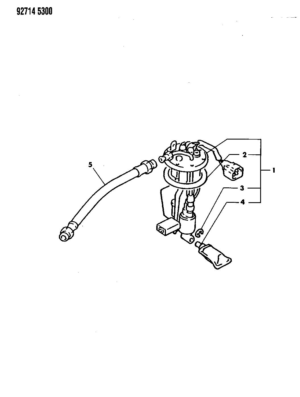 1992 dodge stealth fuel pump  u0026 sending unit