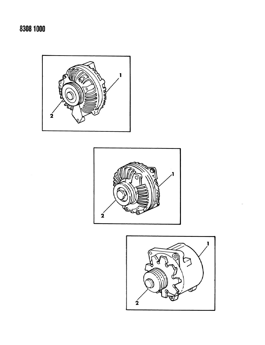1988 dodge dakota alternator & pulley