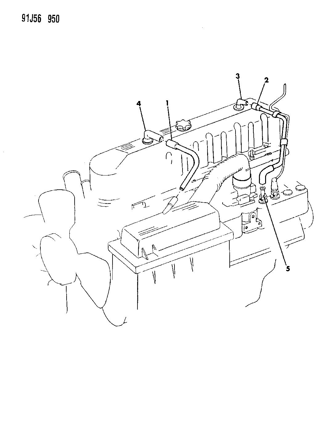 1991 Jeep Wrangler Crankcase Ventilation Mopar Parts Giant Engine Diagram Thumbnail 1
