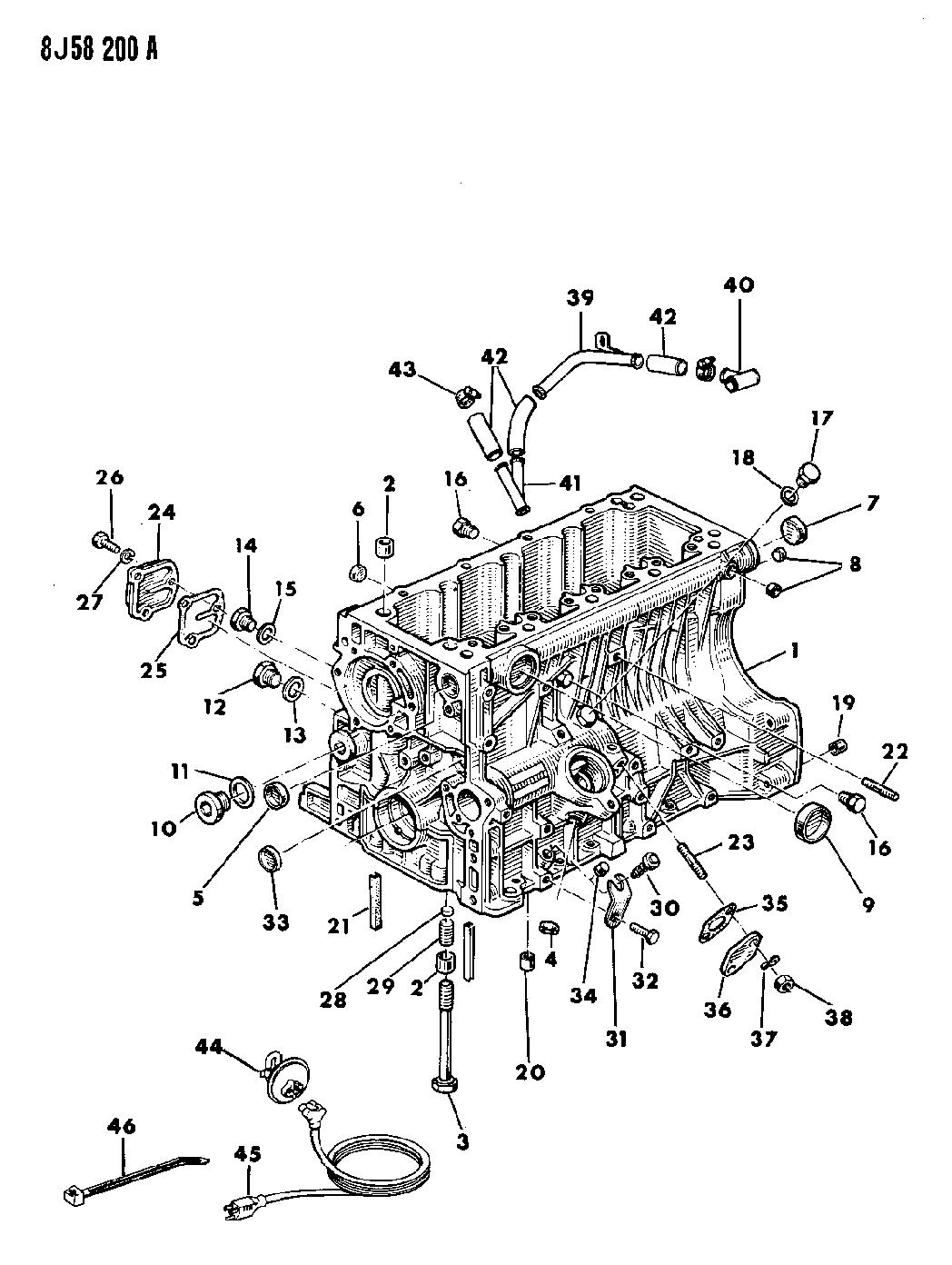 1987 Jeep Wrangler Cylinder Block Mopar Parts Giant Yj Engine Diagram Thumbnail 3