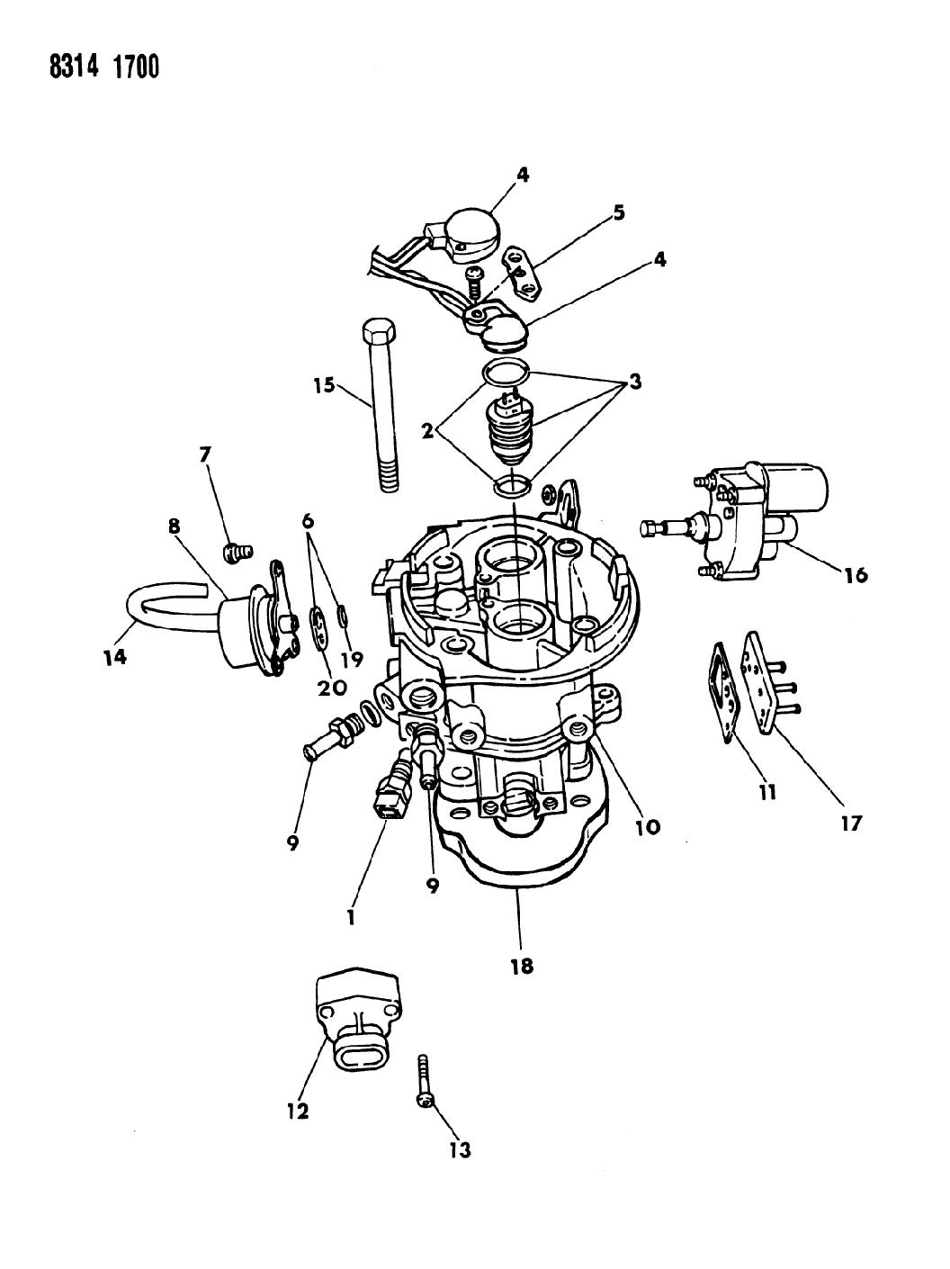 1988 Dodge Ram Van Throttle Body
