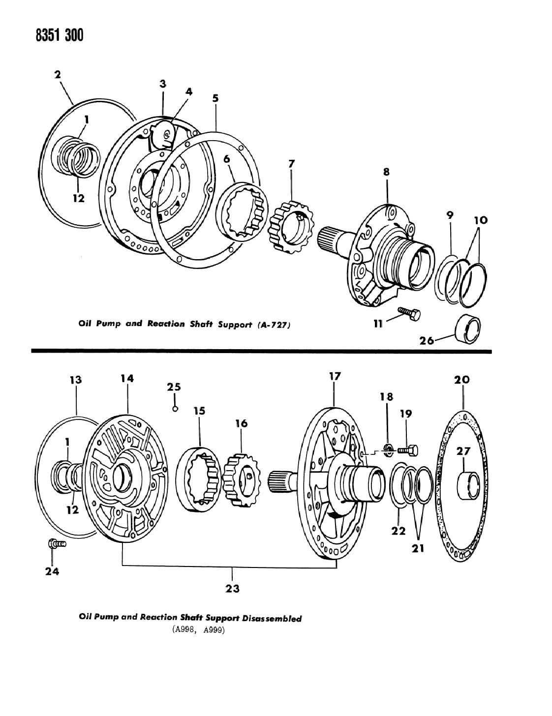 1989 Dodge Dakota Oil Pump With Reaction Shaft - Thumbnail 1