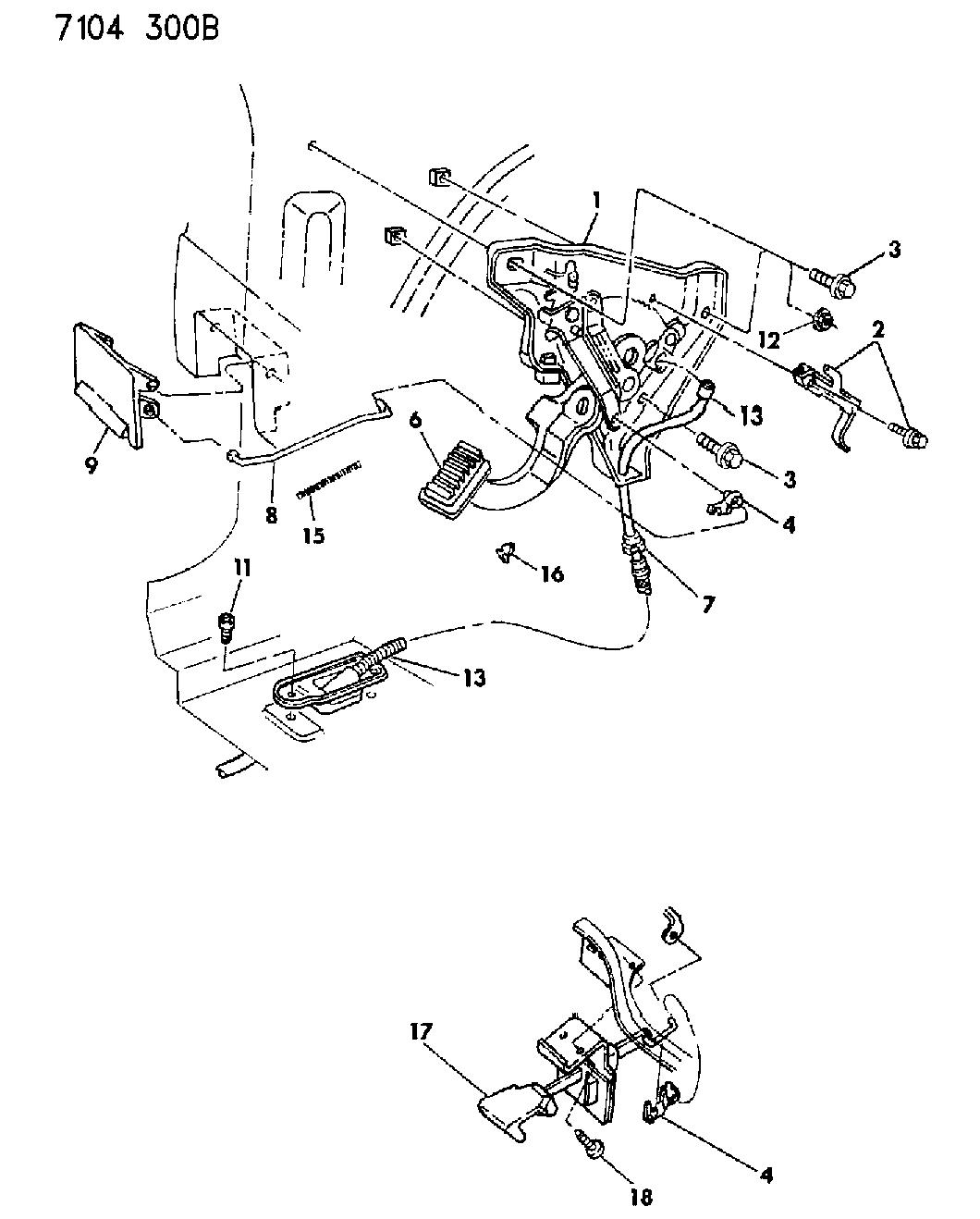 3766435  Genuine Chrysler CABLE ASM PARKING BRAKE FRONT