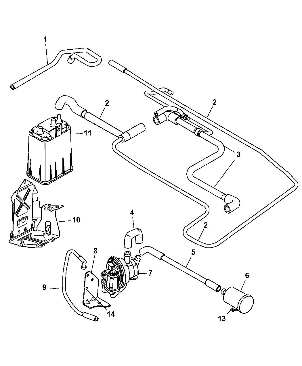 2001 chrysler pt cruiser vapor canister \u0026 leak detection pump PT Cruiser Wheels Diagram