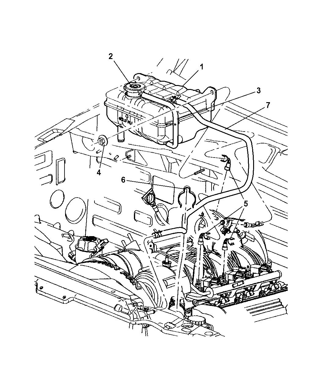 2005 jeep liberty coolant tank - thumbnail 2