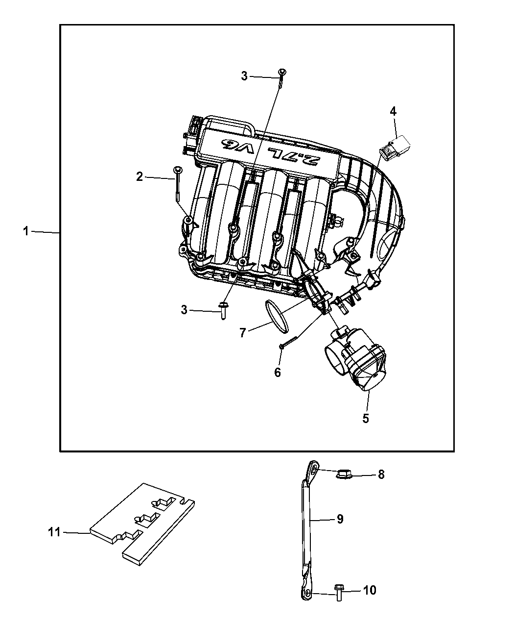 2010 dodge charger intake manifold mopar parts giant rh moparpartsgiant com