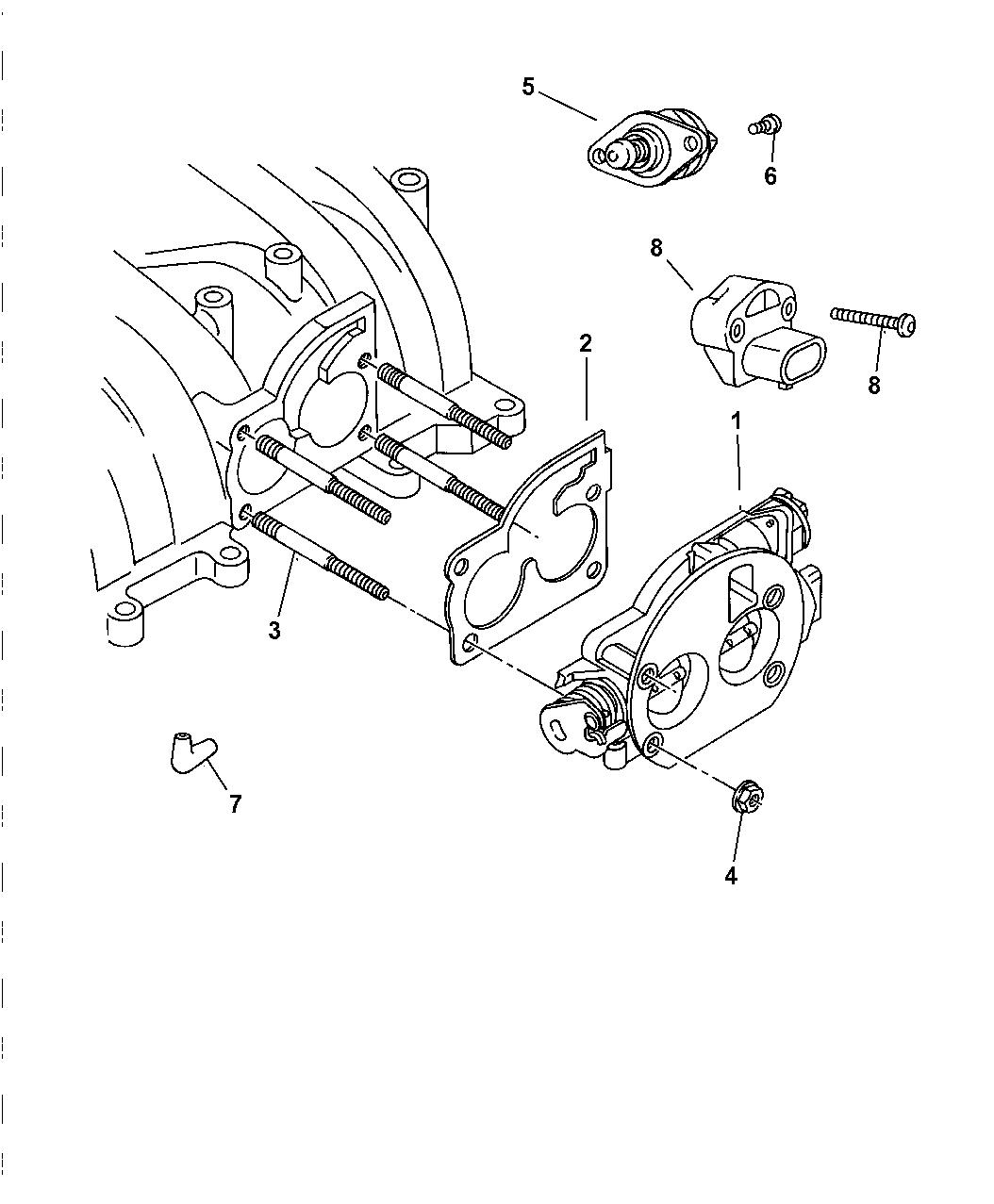 1997 Dodge Ram 1500 Throttle Body