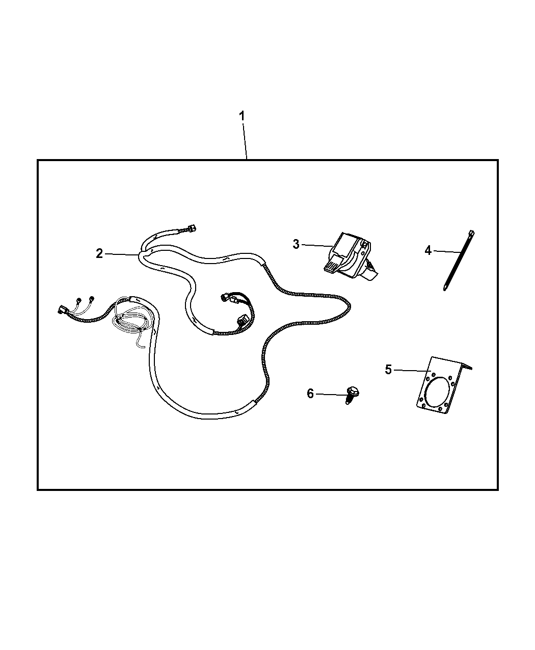2011 Jeep Wrangler Wiring Kit - Trailer Tow
