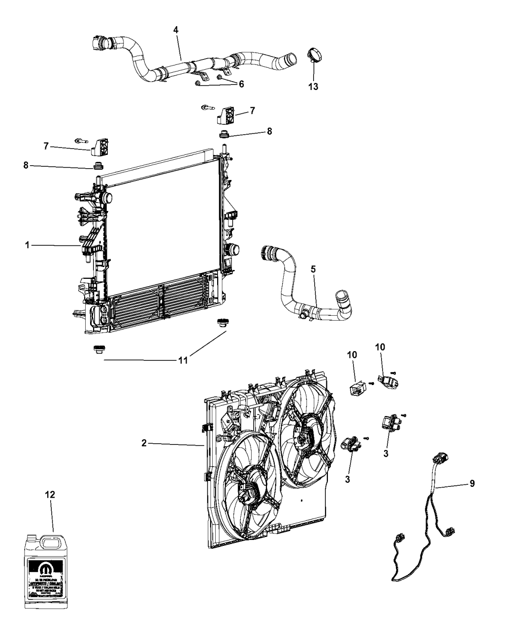 4727659ad Genuine Mopar Wiring Radiator Fan Engine Diagram 2015 Ram Promaster 3500 Related Parts