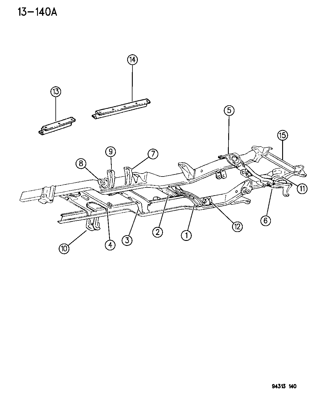1996 dodge ram 1500 frame