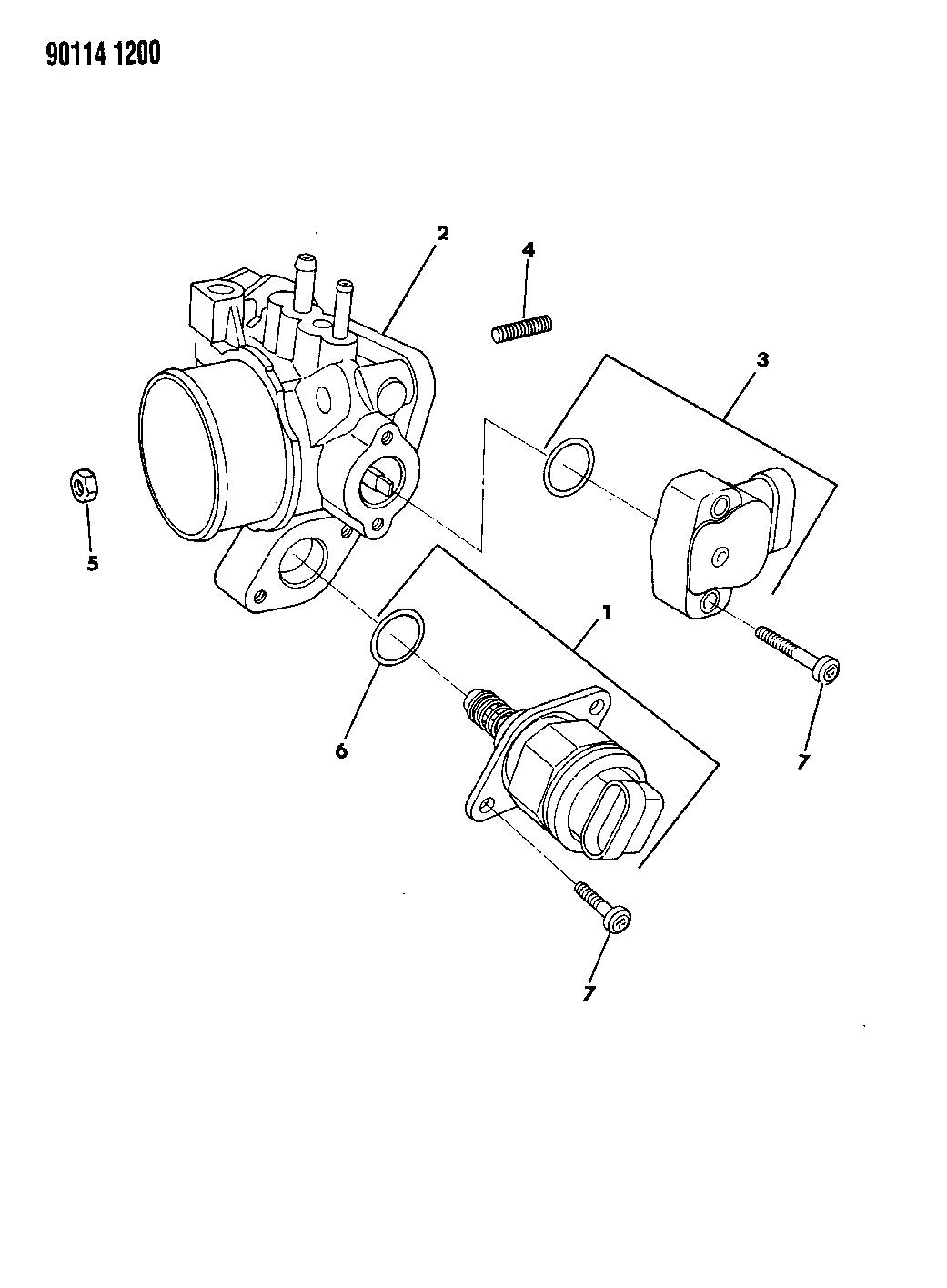 1990 Dodge Dynasty Throttle Body Mopar Parts Giant Schematic Diagram 2