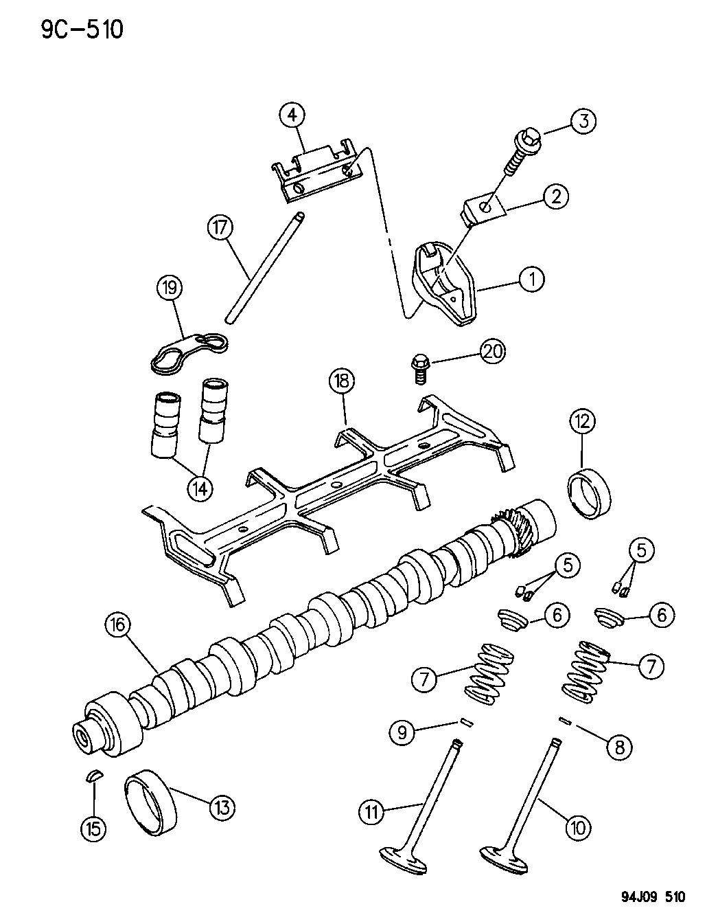 1996 Jeep Grand Cherokee Camshaft & Valves - Thumbnail 1