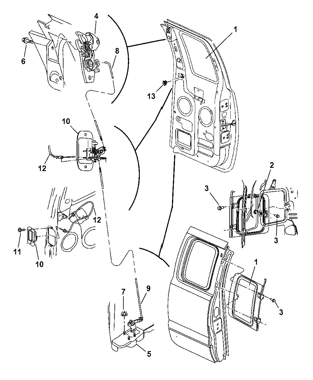 55275054AB - Genuine Dodge GLASS-QUARTER